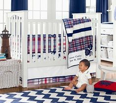 Oh my!  How cute is the madres, crab sheets and chevron rug!  I LOVE it ALL!