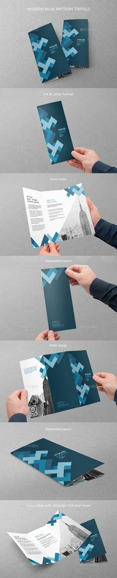 Fully customizable professional template for a brochure. Indesign Brochure Templates, Travel Brochure Template, Letterhead Template, Brochure Design, Brochure Ideas, Brochure Trifold, Stationery Printing, Stationery Design, Cool Business Cards