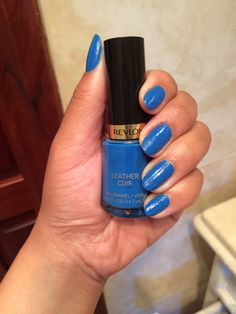 Revlon 'Rock Chic' Leather Cuir nails! I love Blue Enamels!