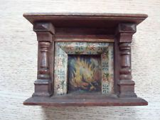 Vintage Dolls House Fireplace - Original Condition