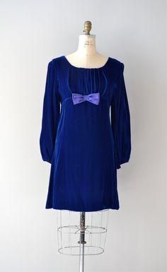 1960s 'She Wore Blue Velvet' empire waist dress
