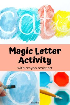Time: 5 minutes Age: Toddlers to Little kids Difficulty: Easy peasy Skills: Writing first letters Art Activities For Toddlers, Preschool Learning Activities, Alphabet Activities, Classroom Activities, Educational Activities, Art For Toddlers, Art For Preschoolers, Name Writing Activities, Alphabet For Toddlers