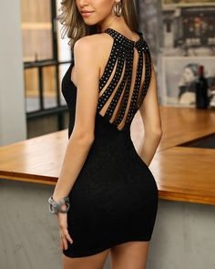 Rivet Multi-Strap Back Bodycon Dress Shop- Women's Best Online Shopping - Offering Huge Discounts on Dresses, Lingerie , Jumpsuits , Swimwear, Tops and More. Trendy Outfits, Fashion Outfits, Womens Fashion, Latest Fashion, Pattern Fashion, Ideias Fashion, Party Dress, Bodycon Dress, Beautiful Gowns