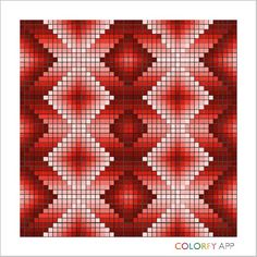 Red 2 Bargello Patterns, Bargello Needlepoint, Bargello Quilts, Needlepoint Stitches, Crochet Bedspread Pattern, Tapestry Crochet, Afghan Crochet Patterns, Graph Paper Drawings, Graph Paper Art