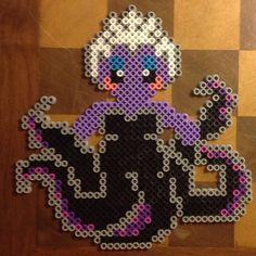 Ursula Little Mermaid perler beads by perlermania