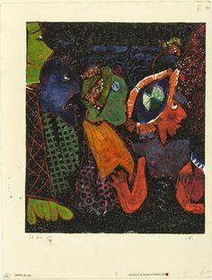 Theater, c 1947, metal print, Rolf (Emil Rudolf) Nesch