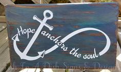 Seashell Crafts, Beach Crafts, Diy Signs, Wall Signs, Anchor Crafts, Anchor Signs, Hope Anchor, Your Soul, Beach Signs