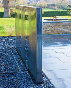 Contemporary Water Feature Mirrored Wall Fountain