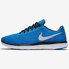 2436068eb0ac9 Nike Flex 2016 RN Mens 830369-400 Photo Blue Black Mesh Running Shoes Size  9.5