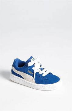 PUMA 'Suede Classic' Sneaker (Baby, Walker, Toddler, Little Kid & Big Kid) available at Baby Boy Shoes, Toddler Shoes, Boys Shoes, Shoe Stores Near Me, Kids Shoe Stores, Swag Outfits, Kids Outfits, Kids Clothes Australia, Puma Suede