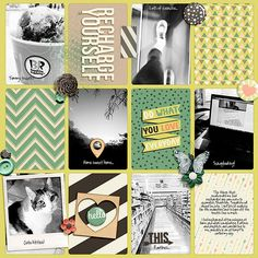 Digital Scrapbook Layout with Recharge and Project Temps No. 1 by Amanda Yi Designs