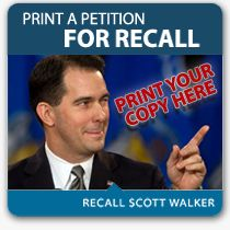 Get out and sign the Recall!!!  RECALL SCOTT WALKER!!!