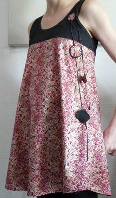 tunique bicolore Tutoriel: tunique de femme