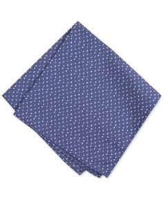 Bar Iii Men's Blue Number Print Pocket Square, Only at Macy's