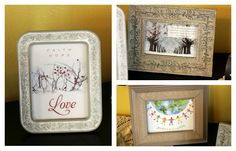 Recycling Christmas Cards: Framed Art - some cards really are too beautiful to throw away