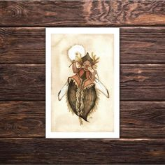 Fairy Print 'Faerie Sedari' magick fairy art fantasy art wall art home decor illustration by tifengland