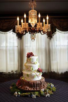 Nashville Garden Wedding Venue   CJ's Off the Square   Garden Tree Wedding Cakes - Photo: Ace Photography