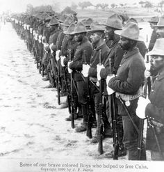 Black Troops (Buffalo Soldiers) in the Spanish American War - circa 1899