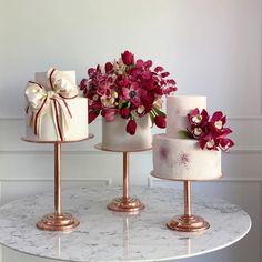 Beautiful Wedding Cakes, Beautiful Cakes, Amazing Cakes, Bolo Floral, Floral Cake, Cupcakes, Cupcake Cakes, Pear And Chocolate Cake, Chocolate Donuts
