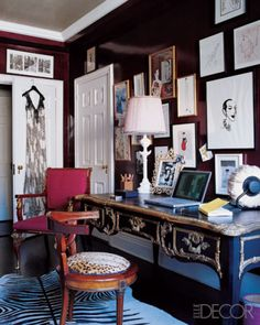 Manhattan dressing room of fashion journalist Amy Fine Collins...