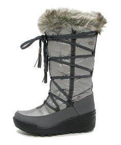 Pewter & Silver Faux Fur Darinka Snow Boot - Women #cyberweek shopping