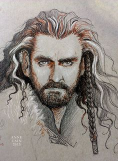 Ah, Thorin! The product of a Richard Armitage Appreciation Party with the gal pals last night/early morning. :D Tomorrow's Avengers Night—we'll see what that brings!