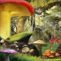 Backdrops: Alice in Wonderland 1A...  set ideas.