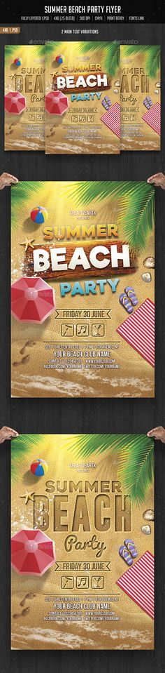 Summer Beach Party Flyer Template PSD. Download here: http://graphicriver.net/item/summer-beach-party/15581038?ref=ksioks