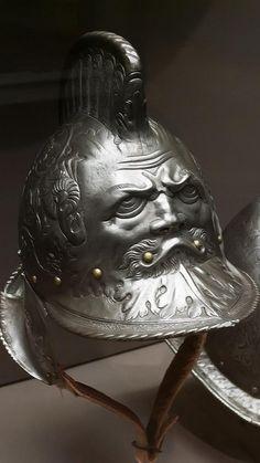 Helmet Italian 1550 CE Embossed Steel, via Flickr.