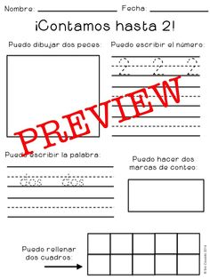 numbers to 20, 100% in Spanish.  read, trace, write, draw, tally, ten frame and more! $