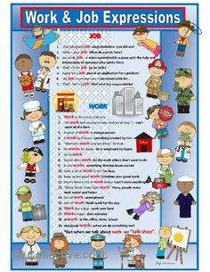Work and job expressions. Vocabulary (A1-C1)