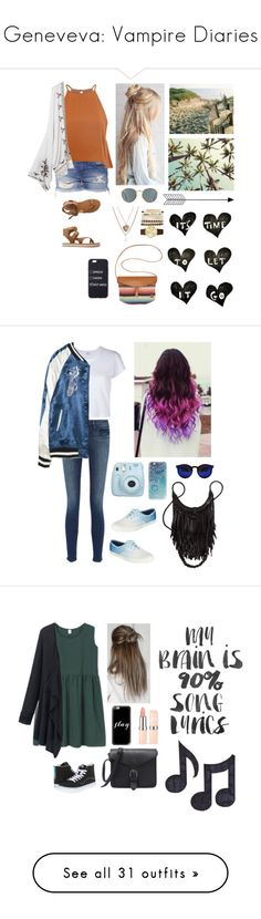 """Geneveva: Vampire Diaries"" by natalialovesnutella ❤ liked on Polyvore featuring Glamorous, Billabong, Aéropostale, Ray-Ban, Jessica Carlyle, Bend, Frame, Keds, RE/DONE and Zara"