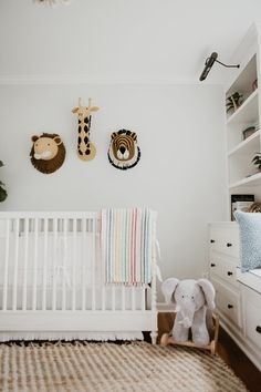 White safari inspired nursery