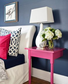Bold Inspiration: Hot Pink and Navy Blue Rooms | Brunch at Saks