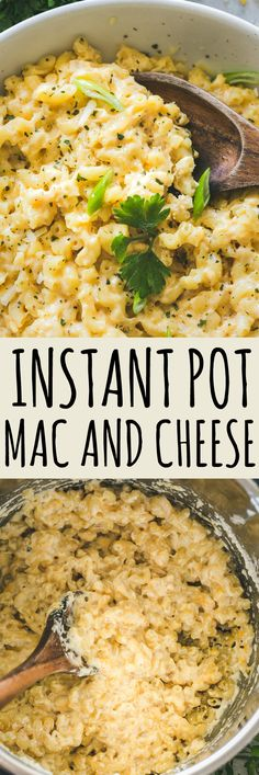 Instant Pot Mac and Cheese Recipe - Instant Pot Mac And Cheese is a ONE POT, creamy, cheesy macaroni dinner made in less than 20 minutes! #instantpotrecipes #instantpot #macandcheese #macaroni #cheese #dinnerrecipes #pasta #30minutemeal
