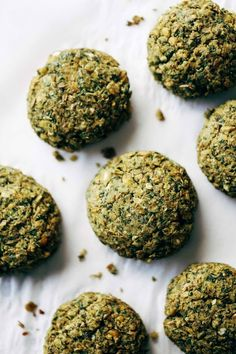 Easy falafel at home in 30 minutes WITHOUT deep frying! Healthy recipe made with lentils, cilantro, parsley, jalapeños, olive oil, and lemon juice. Vegetarian / Vegan / Gluten Free. 70 calories per falafel.   pinchofyum.com