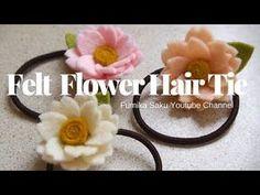 How to Make Felt Flower Hair Tie - YouTube