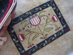 America pillow by Handwork Primitives