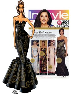 My first oscar gown for House of Dereon.  I originally created a black and white print version of the same style for an Ebony Magazine photoshoot.  She liked it so much, she wanted it done in black for awards season.  I almost shit myself when i was watching and she stepped on to the red carpet wearing this.  Career highlight (at that point...) Scott Nylund.  #Oscars #ScottNylund #beyonce #HouseofDereon