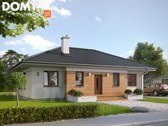 Projekt domu Decyma 2 - wizualizacja frontowa