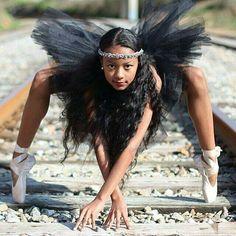 The Black Girl Ballerina Movement: Meet 12 year old Maile, the new ambassador for Brown Girls Do Ballet Atlanta. Black Dancers, Ballet Dancers, Black Girls Rock, Black Girl Magic, Beautiful Black Women, Beautiful People, Afro, Look Body, Black Ballerina