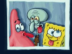 The perfect Spongebob Patrick Squidward Animated GIF for your conversation. Cartoon Wallpaper Iphone, Iphone Background Wallpaper, Cute Disney Wallpaper, Cute Cartoon Wallpapers, Cartoon Pics, Aesthetic Iphone Wallpaper, Cartoon Art, Spongebob Painting, Spongebob Drawings