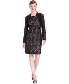 $95 Jessica Howard Beaded Lace Sheath and Jacket | Coat, Jacket and Clothing
