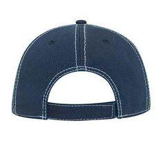 e5981c73 Navy Color White Distressed Dad Hat 6 Panel Cap, Navy Color, Dad Hats,