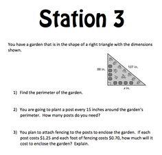 Mrs. E Teaches Math:  Right Triangles Stations Review (1st half of unit) mrseteachesmath.blogspot.com