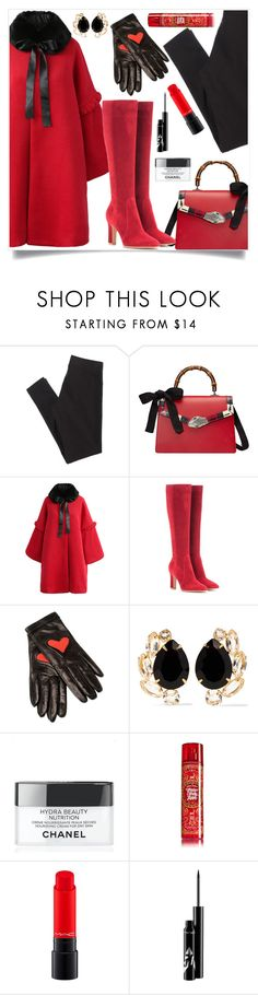 """""""Gianvito"""" by tina-pieterse ❤ liked on Polyvore featuring American Eagle Outfitters, Gucci, Chicwish, Gianvito Rossi, Boutique Moschino, Bounkit, Chanel, MAC Cosmetics and Winter"""