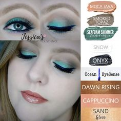 I'm LOVING the limited edition Seafoam Shimmer ShadowSense! Eyeshadow Looks, Makeup Eyeshadow, Eyeshadows, Diy Makeup, Makeup Tips, Makeup Ideas, Kiss Proof Lipstick, Shadow Sense, Senegence Makeup