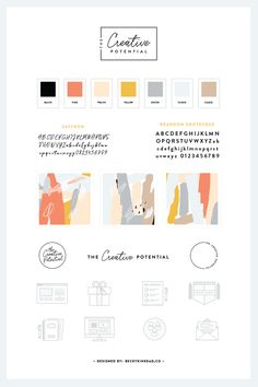The Creative Potential Style Guide. A complete brand and website design for a creative blog and business.