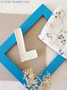 DIY: Lettere in cornice.