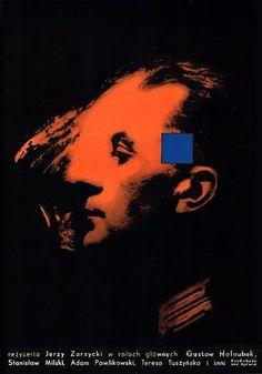 """Wojciech Zamecznik Poster : """"BIALY NIEDZWIEDZ"""", 1959 2 x A1 v. = A0 horizontal : 46.4"""" x 33.3"""" (117.8 x 84.5 cm), color offset Value : $ 1000 + (set), rare Film : Poland (Syrena) Ddirected by Jerzy Zarzycki Starring : Gustaw Holoubek, Teresa Tuszynska, Jerzy Pawlikowski, Stanislaw Milski"""